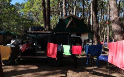Como lavamos roupa na estrada